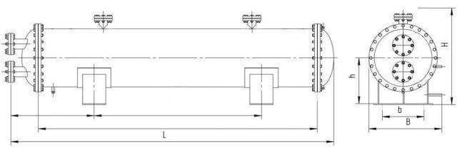 Кожухотрубные теплообменники габаритные размеры Паяный пластинчатый теплообменник SWEP B400T Таганрог